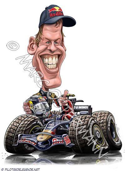 Sebastian Vettel by Tonió   Caricaturas (deporte ...