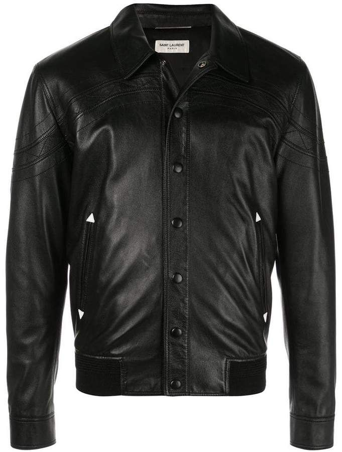 7d1b665b0c8 Saint Laurent Snap Buttoned Jacket in 2019