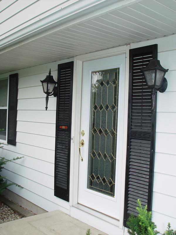 Front Door Shutters - http://www.nauraroom.com/front-door-shutters ...