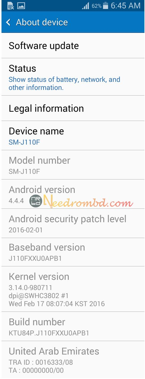 Samsung J110F Official Stock Firmware | Smartphone Firmware