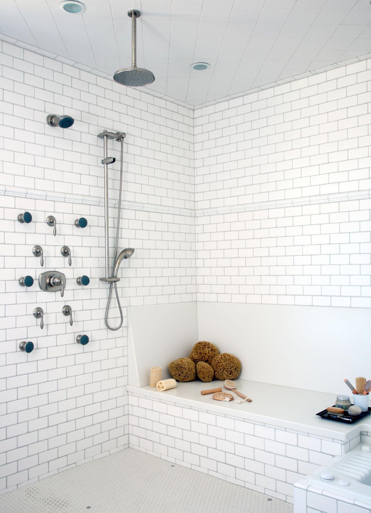 33 Breathtaking Walk In Shower Ideas Built In Shower Seat Shower Tile Bathroom Remodel Shower