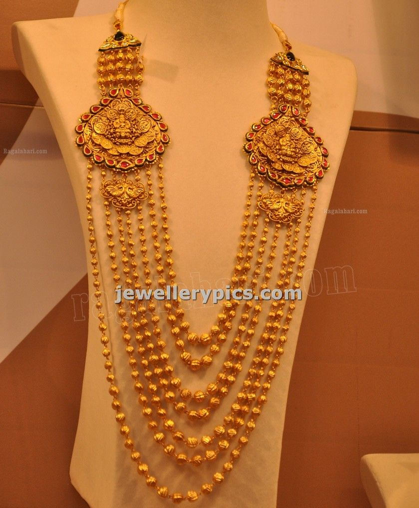 Malabar gold gundla mala with steps designs latest collection for