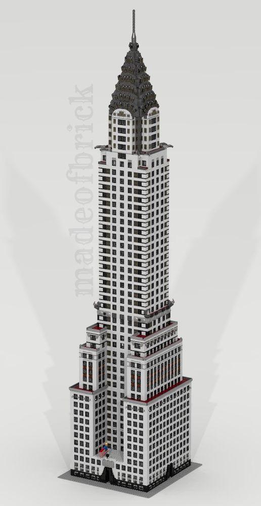 Custom Lego Building Chrysler Building New York Usa Giant Size