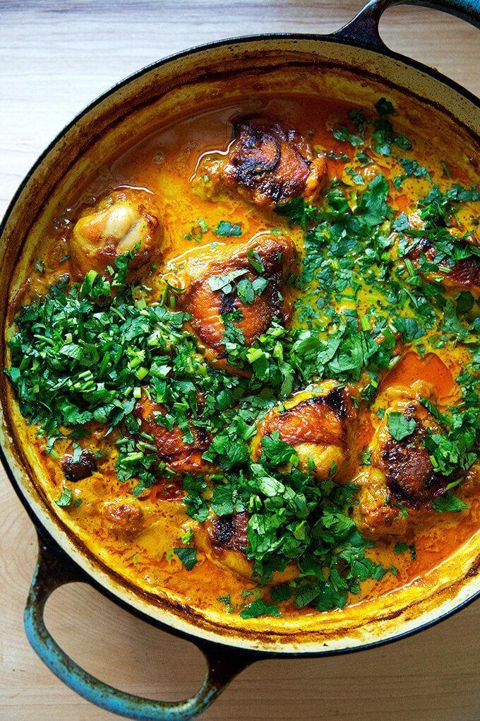 Easy One Pot Coconut Thai Chicken Curry Alexandra S Kitchen Recipe Curry Recipes Healthy Recipes Recipes