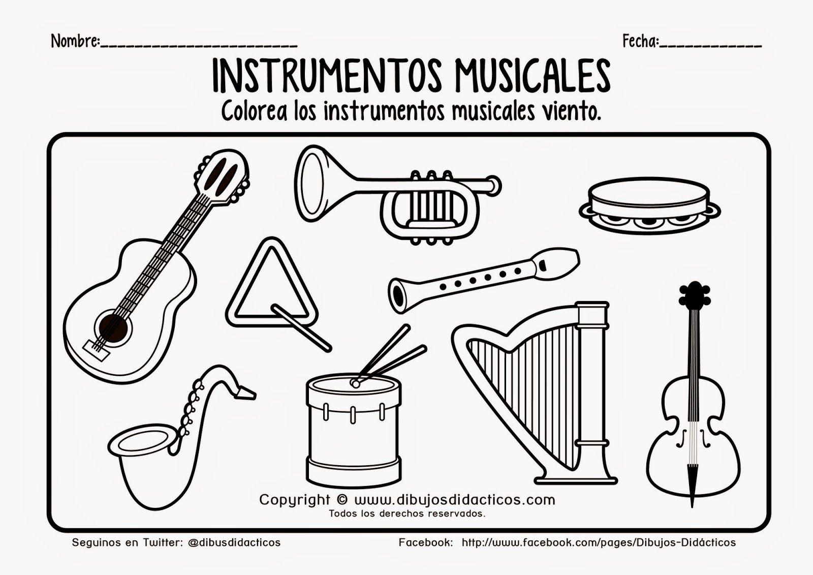 Lamina De Instrumentos Musicales Para Imprimir Y Colorear 2 2013082 Imagenes De Instrumentos Musicales Instrumentos Musicales Dibujos De Instrumentos Musicales