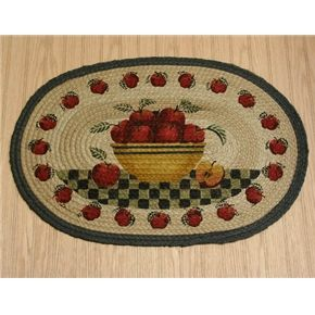apple kitchen rugs ikea kitchens pictures decorations for country rug basket braided oval decor