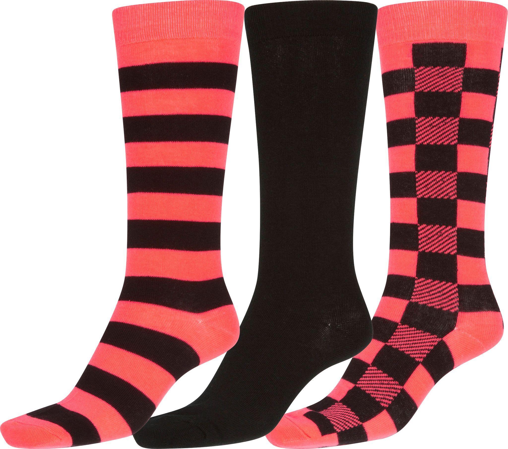 Sakkas Bina Womens Cute Colorful Design Knee High Socks Assorted 3-packs