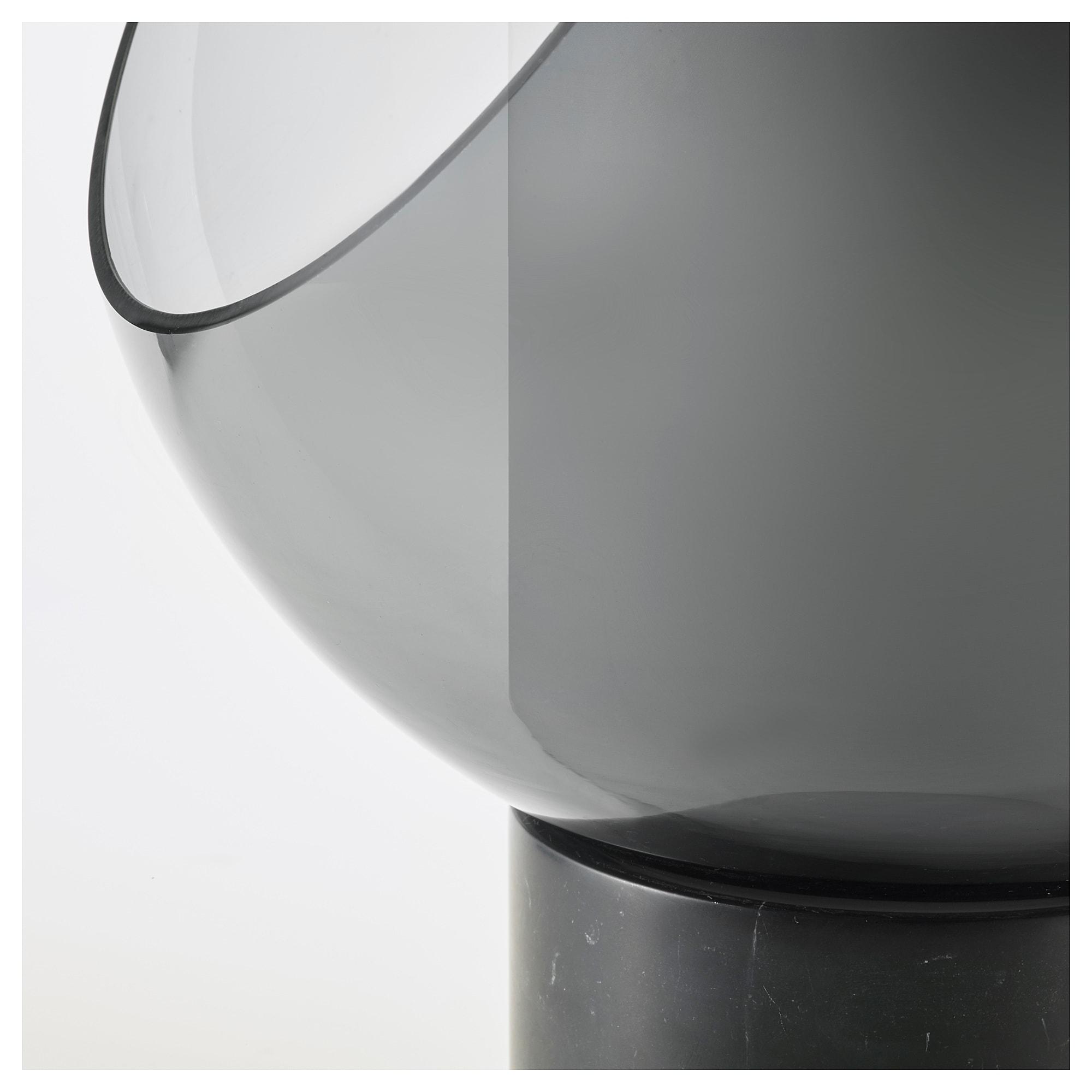 IKEA EVEDAL Table lamp marblegray globe | Table lamp