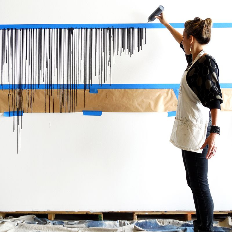 Colorhouse Paint Diy Project Make This Drip Wall Diy Wall Painting Paint Colors For Home Diy Wall Art