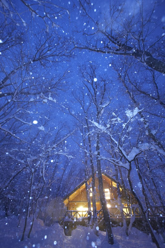 Winter Cabin Lights Shine In The Snowy Evening No Location Given By Aragat Winter Scenery Winter Landscape Winter Pictures
