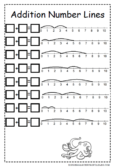 Addition Number Lines Fill In The Formulas Img 교육아이디어