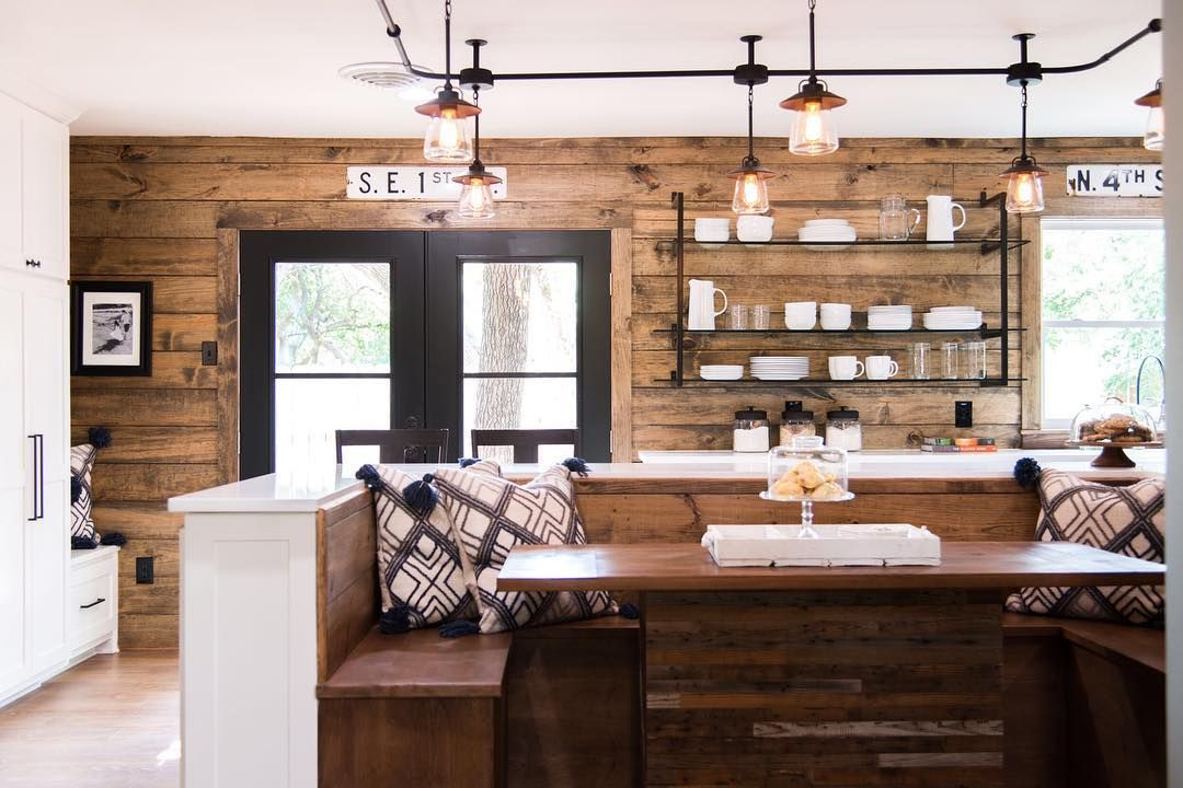 So Cozy Shiplap Kitchen Shiplap Accent Wall Stained Shiplap