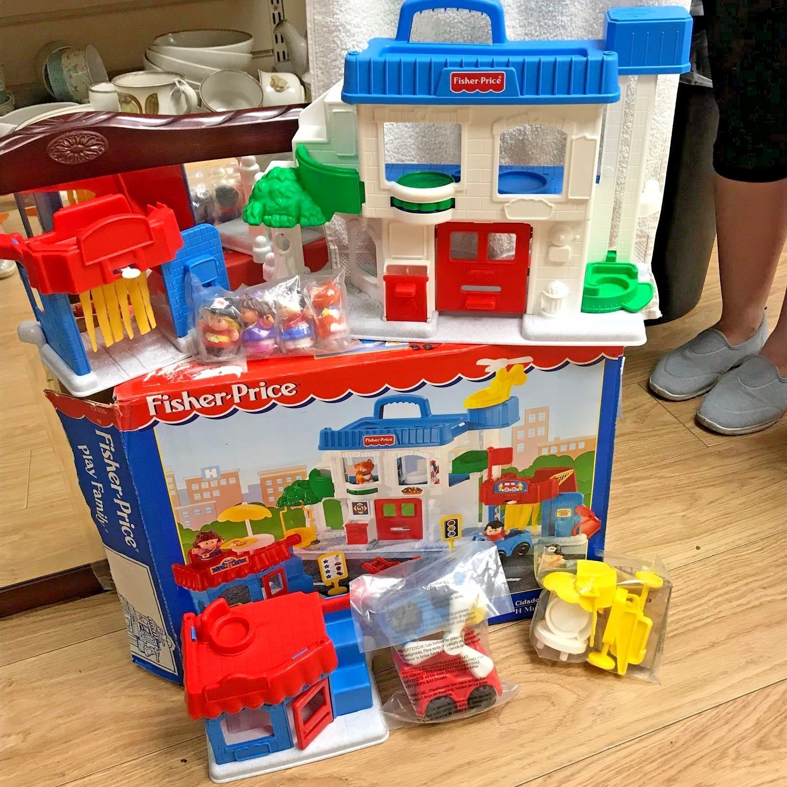 Fisher Price 1998 Little People Town Main Street Complete