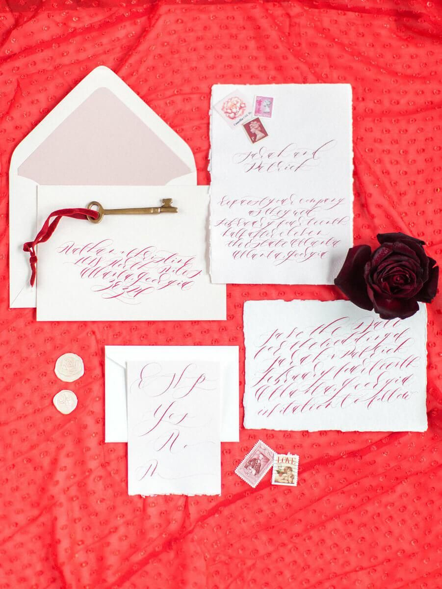 Lush Bold Red Valentine Wedding Inspiration | Red Wedding Ideas ...
