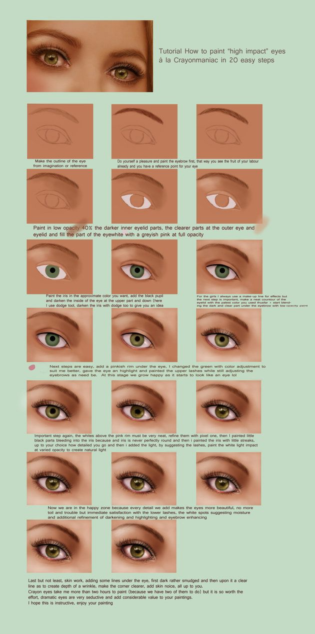 How to paint realistic eyes in photoshop tutorial digital crayons easy eye tutorial by crayonmaniac find this pin and more on digital painting illustration and photoshop baditri Image collections