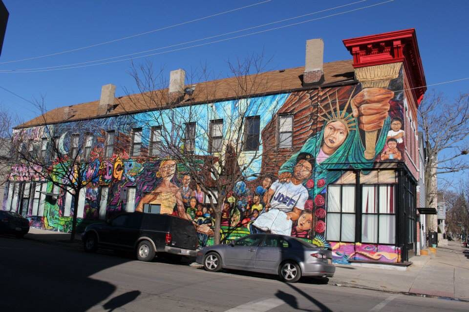 Cool street art at the artsy pilsen neighborhood chicago