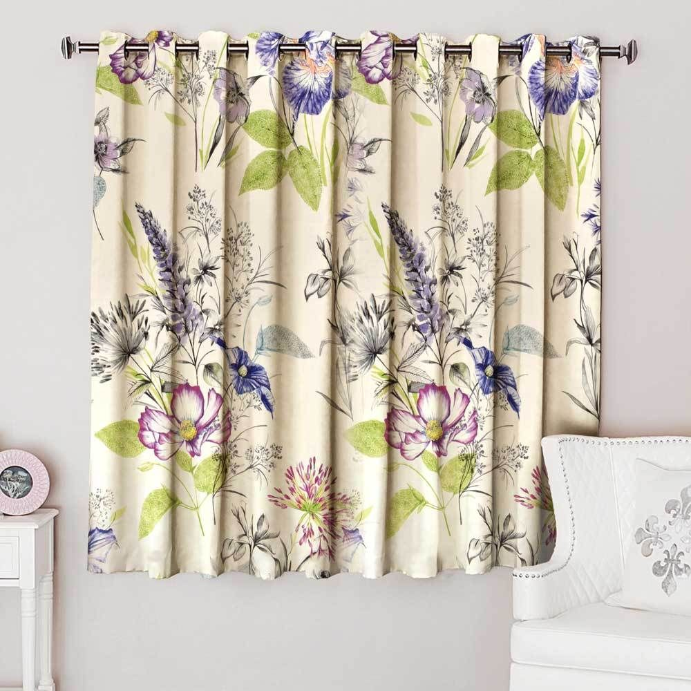 Gardenia Flowers One Piece Window Curtain Polorepublica