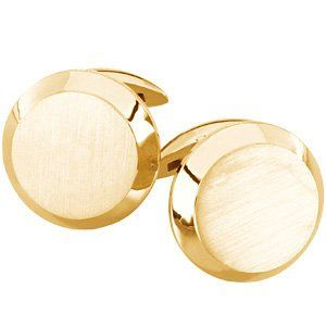 18K Yellow Gold Gents Cuff Links