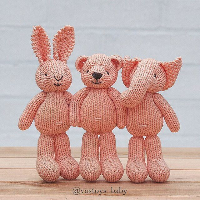 Sold Available elephant and bunny in my shop vastoysbaby.etsy.com (direct link in bio) #vastoys_baby