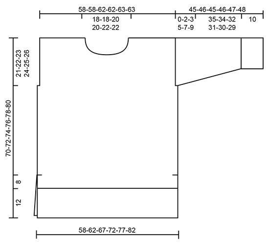 """Warm Wine - Strikket DROPS stor genser i """"Melody"""" med fletter og høy hals. Str S - XXXL. - Free pattern by DROPS Design"""