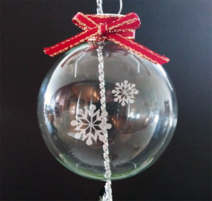 Free Floating Ornament Insert SVG/DXF File Christmas