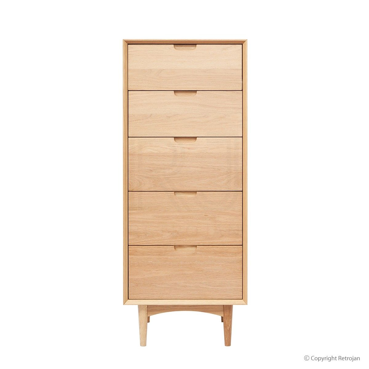 Mia 5 Drawer Chest Oak Scandinavian Style Drawers Chest Of Drawers