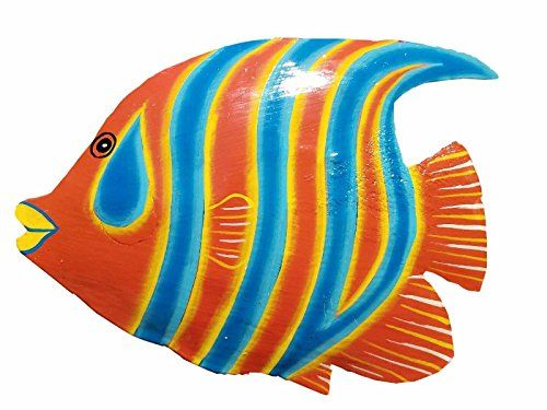 Hand Chiseled And Painted Tropical Metal Art Wall Decor F Https Www Amazon Com Dp B072b66flx Ref Cm Sw R Metal Fish Wall Art Fish Wall Art Fish Wall Decor