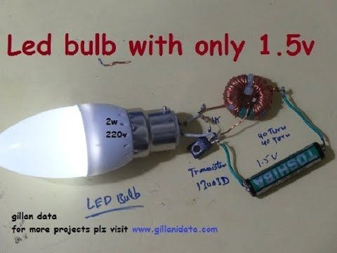 Ac Led Bulb With 1 5v Youtube Elettronica Invenzioni Circuito