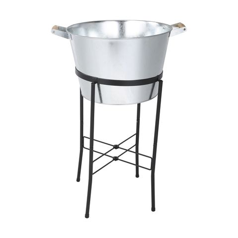 20l Galvanised Tub On Stand Galvanized Tub Beverage Cooler Glassware