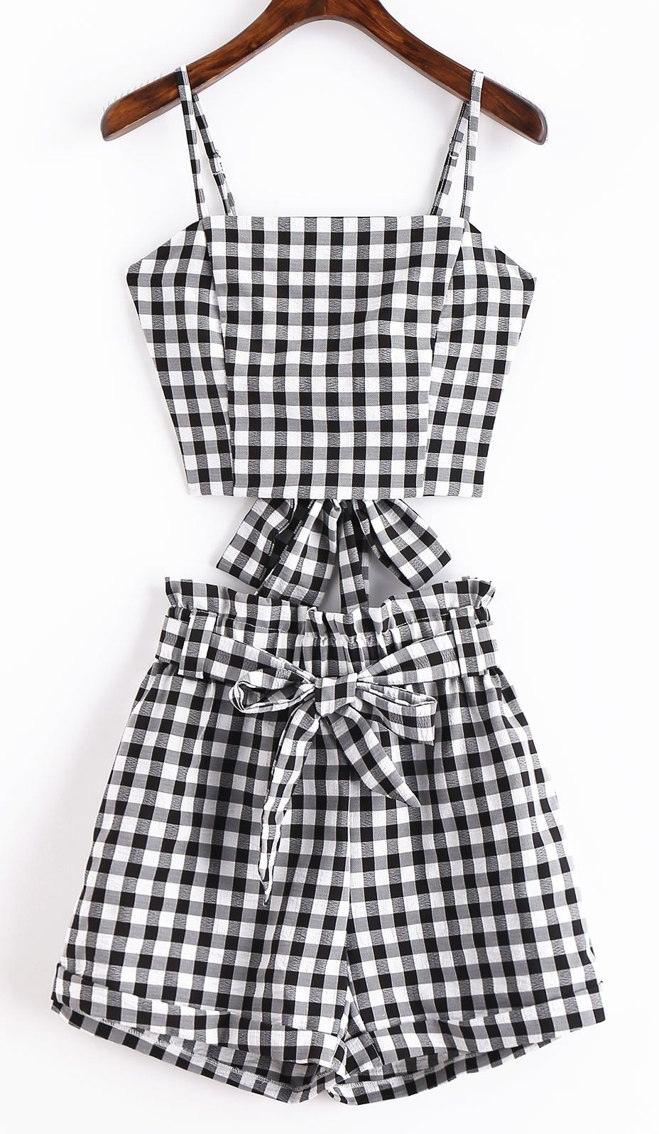 a2e431345c5 Cute casual two-piece set women crop top and pants elastic bow tie detailed  This
