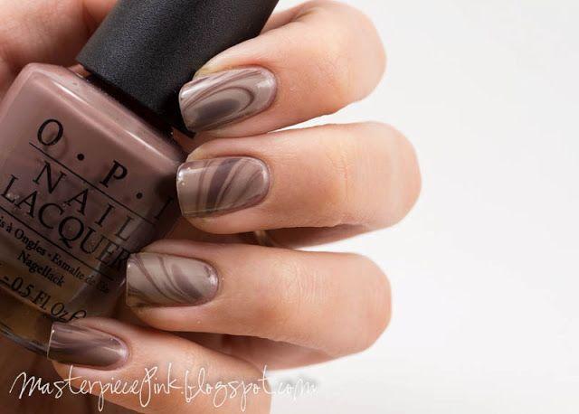 Hot chocolate nails <3