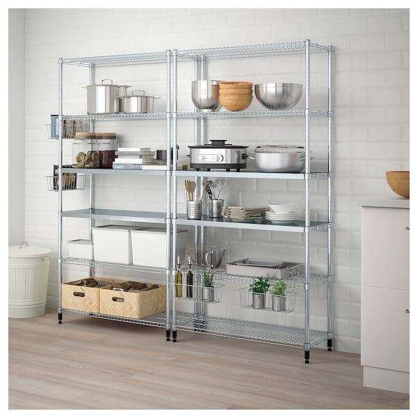 2 Section Shelving Unit Omar In 2019 Apartment Shelves Ikea