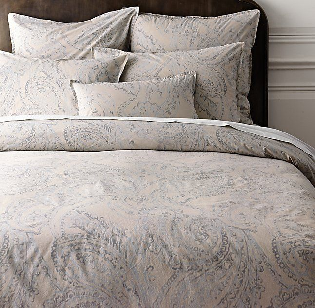 Garment Dyed Percale Paisley Duvet Cover Paisley Duvet Paisley Bedding Duvet Covers