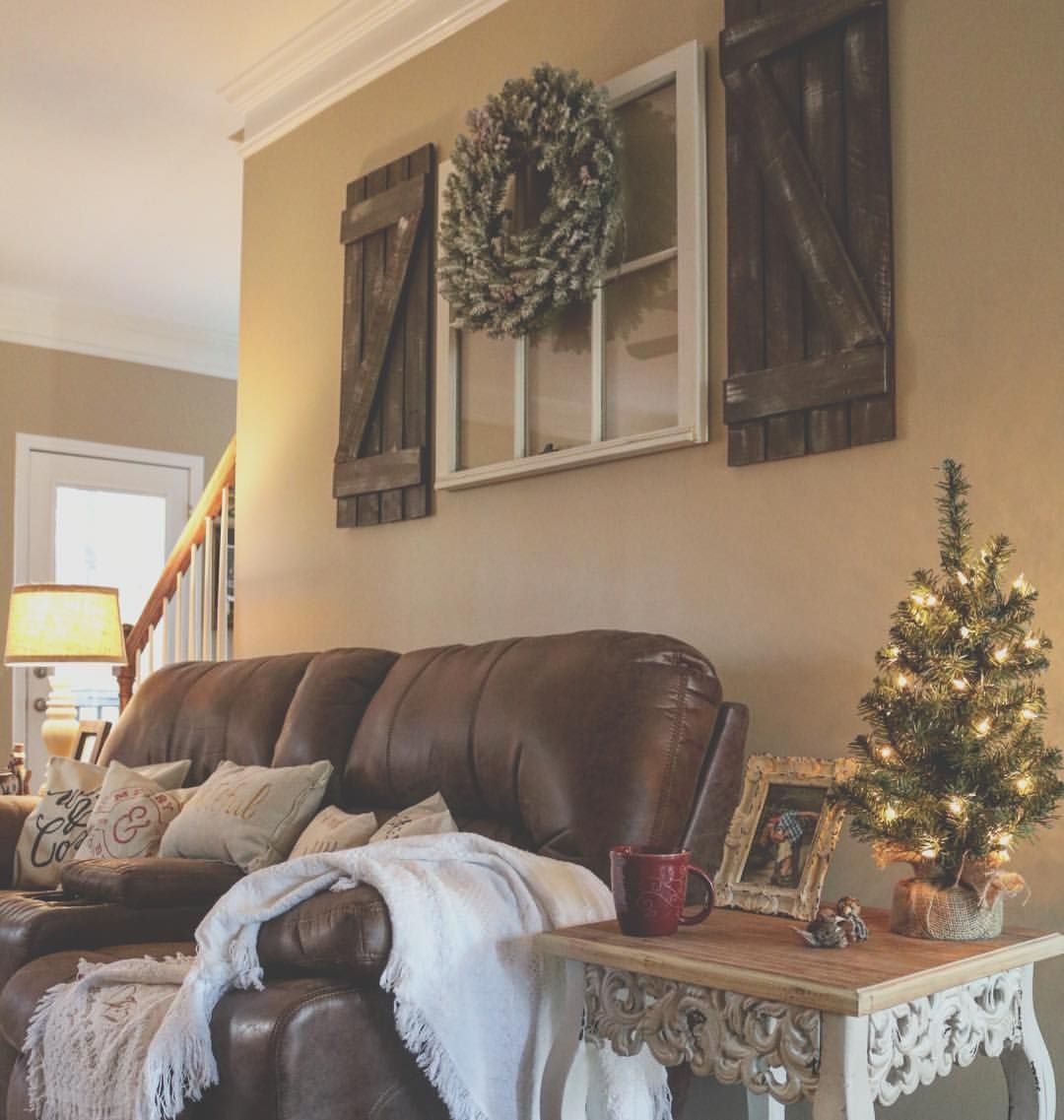 Farmhouse Living Room Ideas Brown Couch
