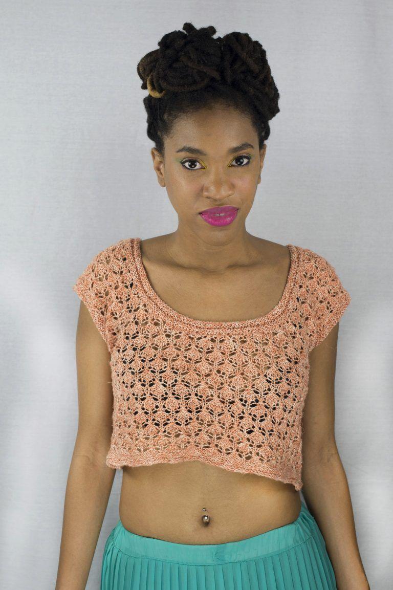 Zach\'s Bay Crop Top Free Knitting Pattern | Knit patterns, Patterns ...
