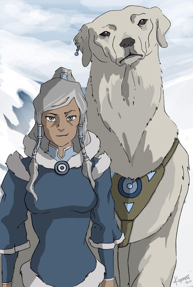 legend of korra avatar korra naga growing old together 3