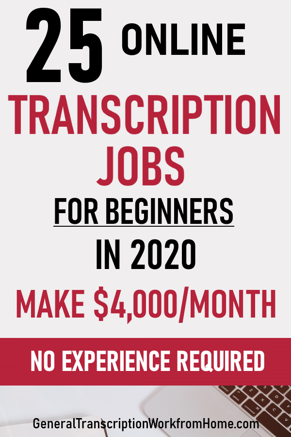 25 Online Transcription Jobs From Home For Beginners In 2020make