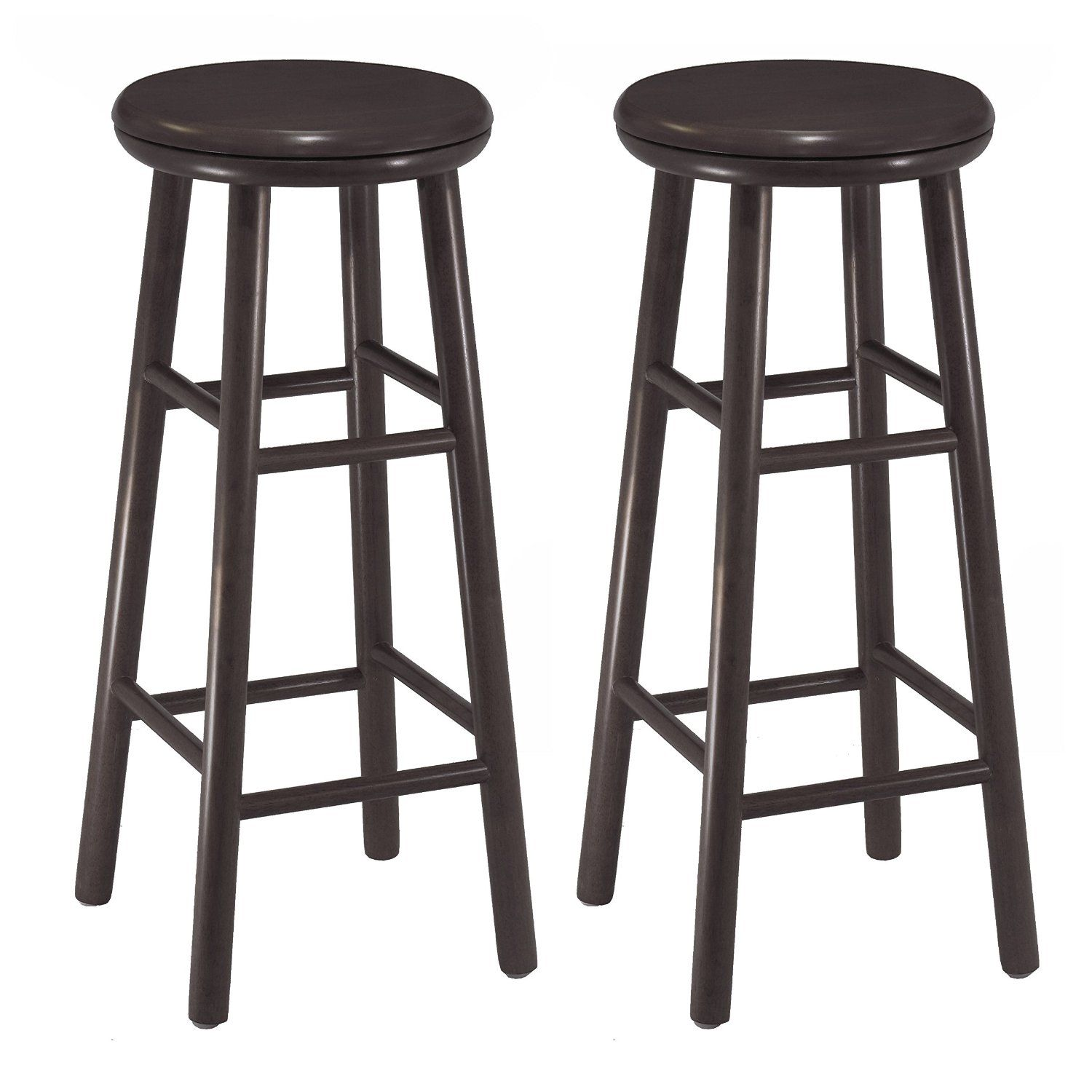 Amazonsmile Winsome Wood 30 Inch Swivel Bar Stools Dark Espresso