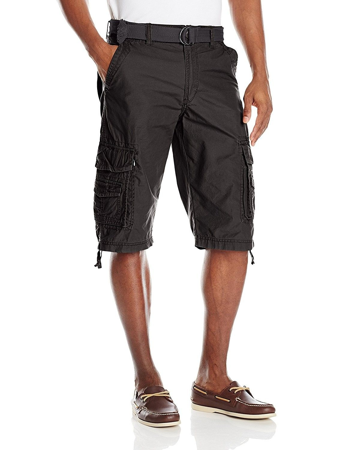 c0101dc2cf Men's Cordova Belted Messenger Cargo Short - Reg and Big and Tall Sizes -  Black - CU185ID05DK,Men's Clothing, Shorts #men #clothing #fashion #style  #gifts ...