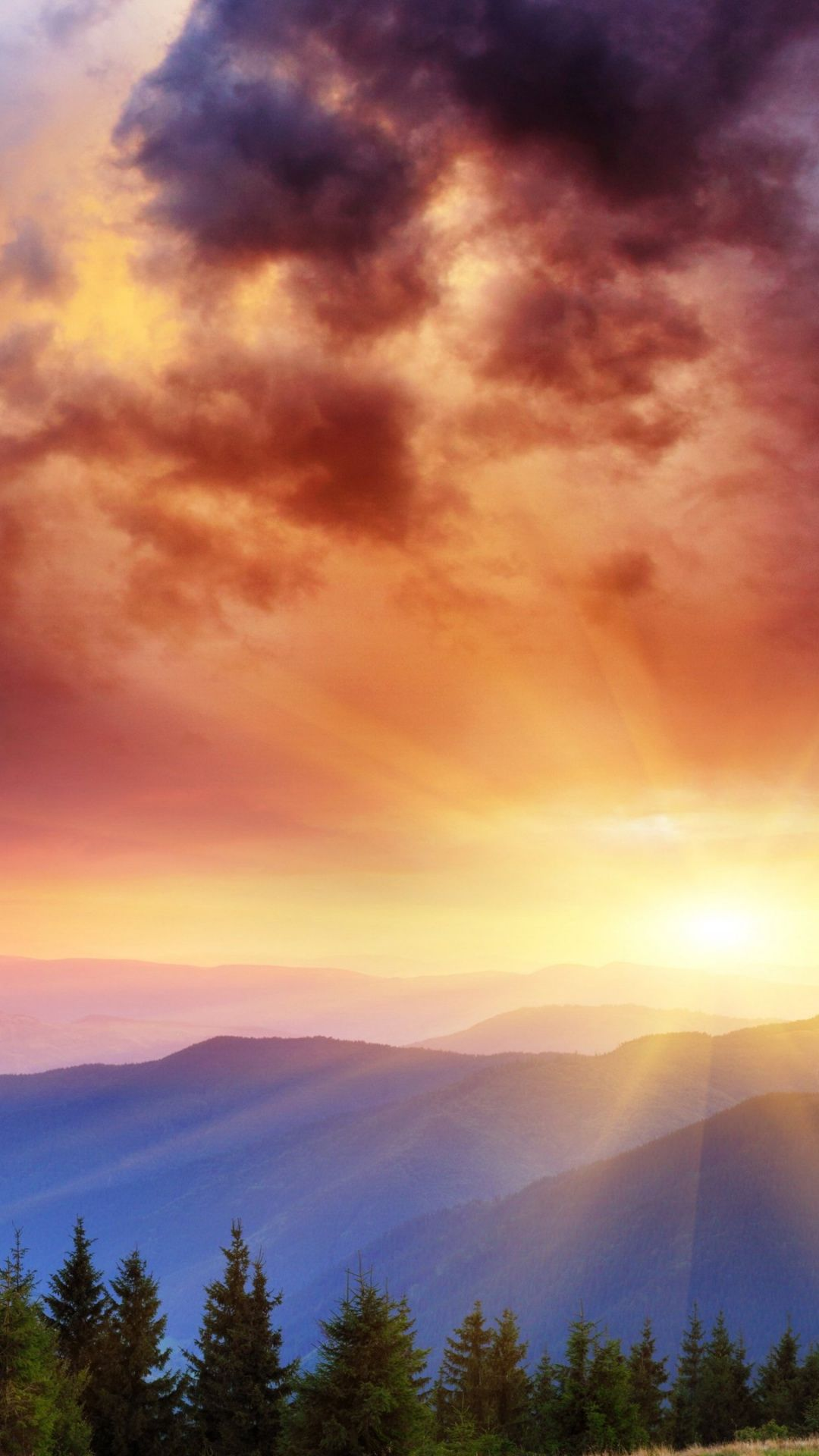 Wallpapers atmosphere, sunrise, morning, mount scenery