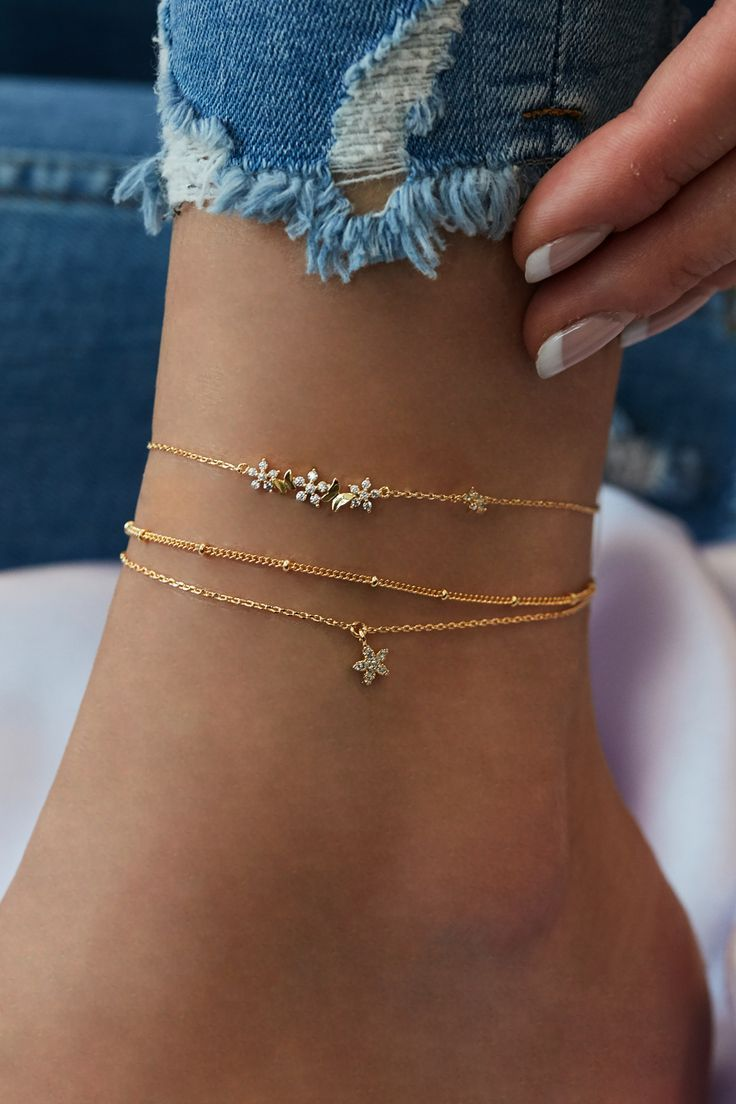 Photo of Rue Gembon Willow Gold Butterfly Anklet
