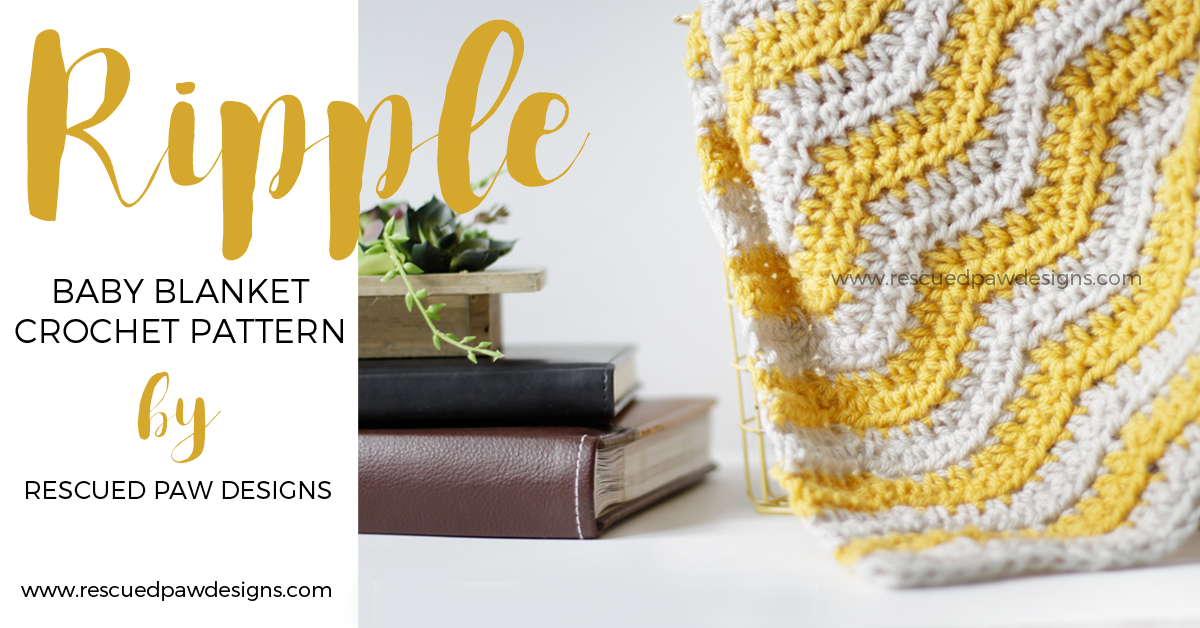 Baby Ripple Crochet Blanket from Rescued Paw Designs