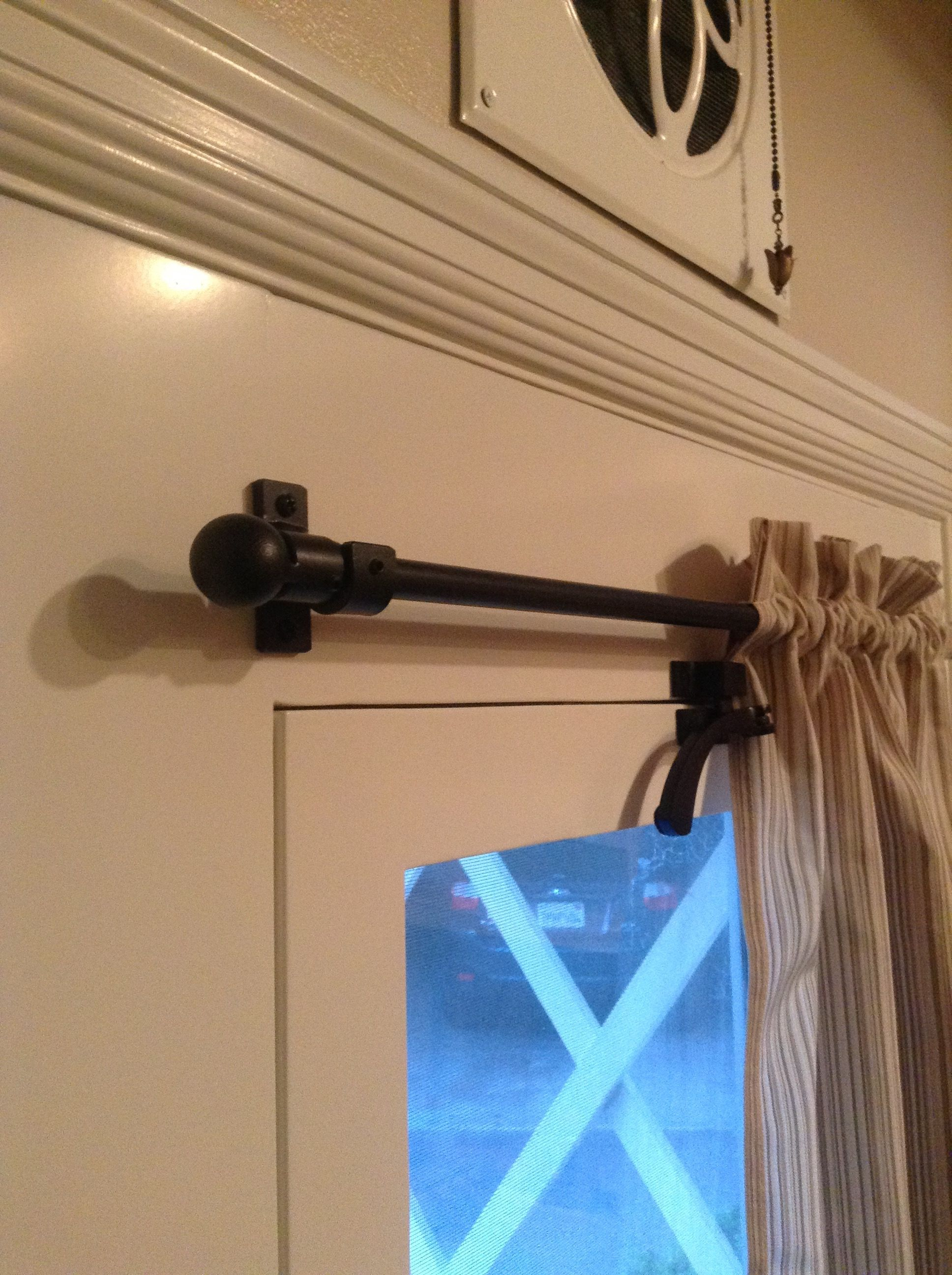 Small Iron Rod Door Curtain Rod Cafe Iron Rod With Ball Finials Wrought Iron Drapery Rod By Https Www Etsy Com Shop Ad Curtain Rods Drapery Rods Curtains