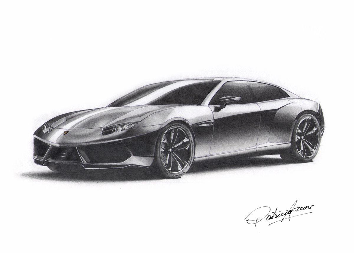 Superbe Lamborghini Estoque. Hecho Con Lapiz.   LGMSports.com