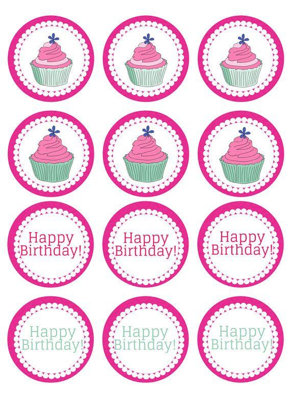 картинки для капкейков с днем рождения распечатать доставайте