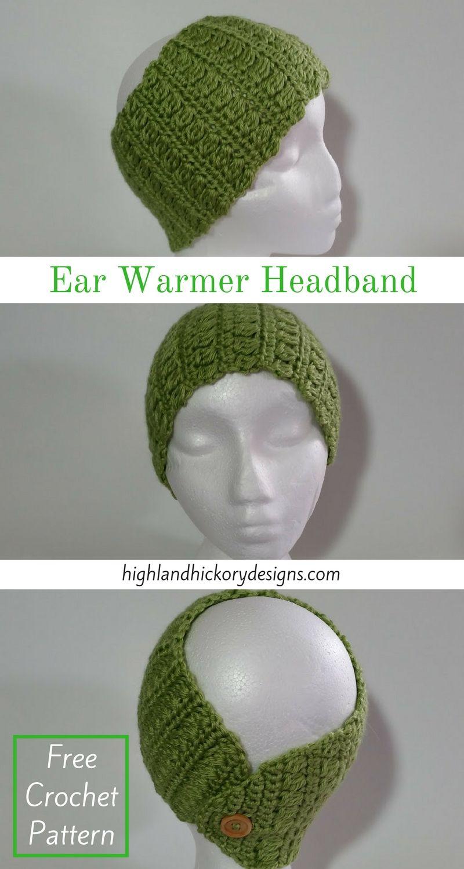Clusters and Stripes Ear Warmer Headband   Tejido