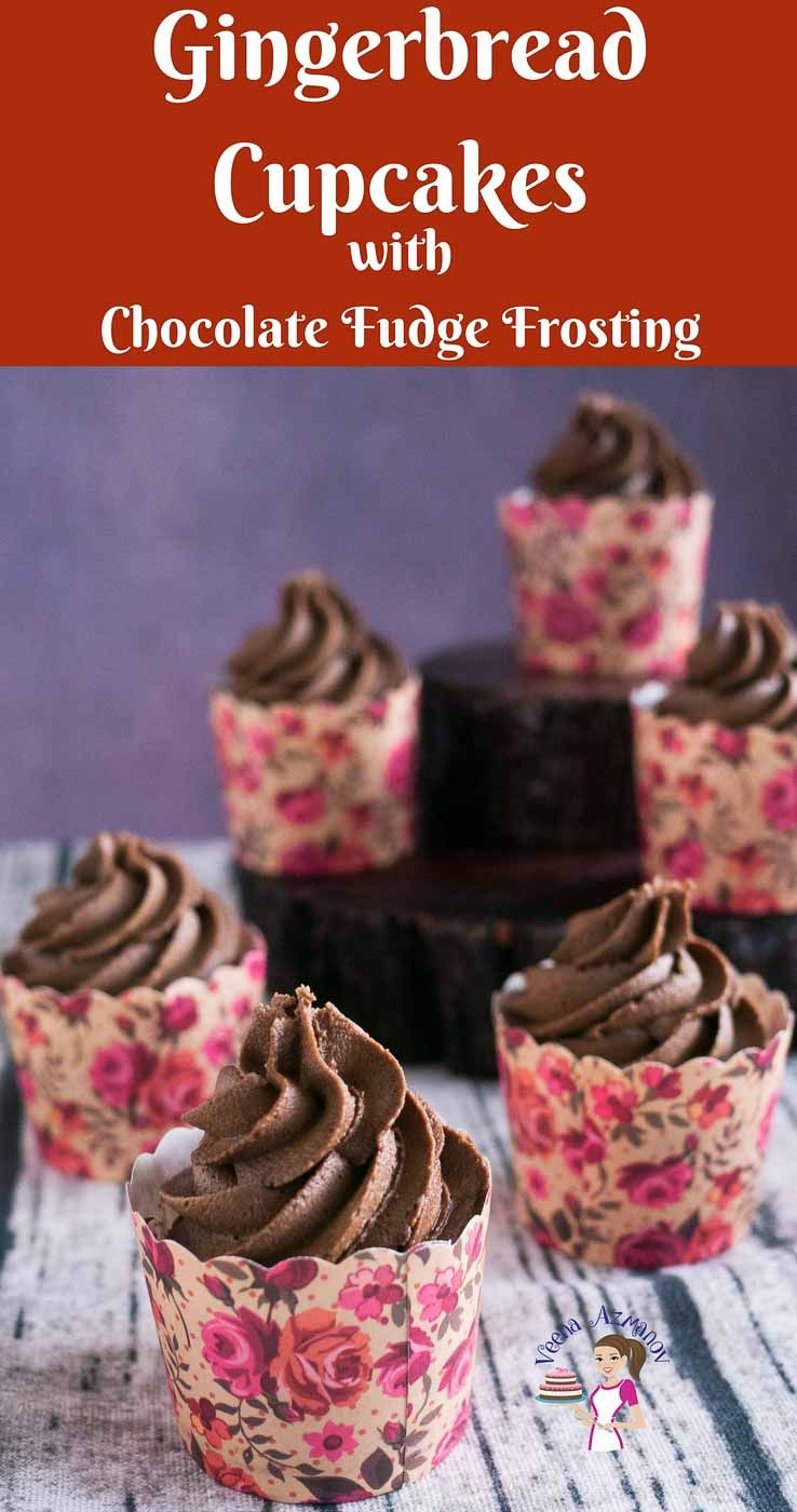 These old fashioned gingerbread cupcakes are perfect for ...