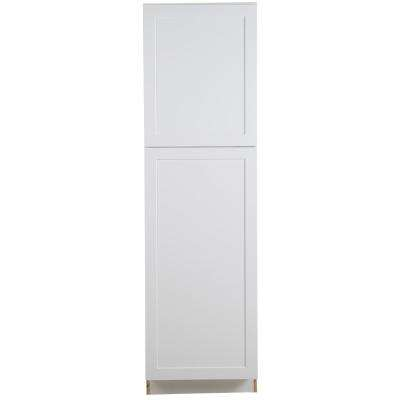 Hampton Bay Cambridge Shaker Assembled 84x24x24 5 In Pantry Cabinet With Adjustable Shelves And 2 Soft Close Doors In White Cm2484p Wh The Home Depot Adjustable Shelving Pantry Cabinet Kitchen Pantry Cabinets