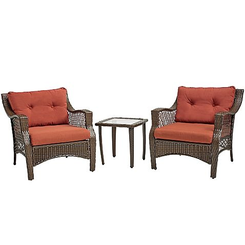 3 Piece Outdoor Patio Wicker Furniture Set With Deep Seat Cushions Light Blue A Lovely Addition To Stylish Seating Area This Chair