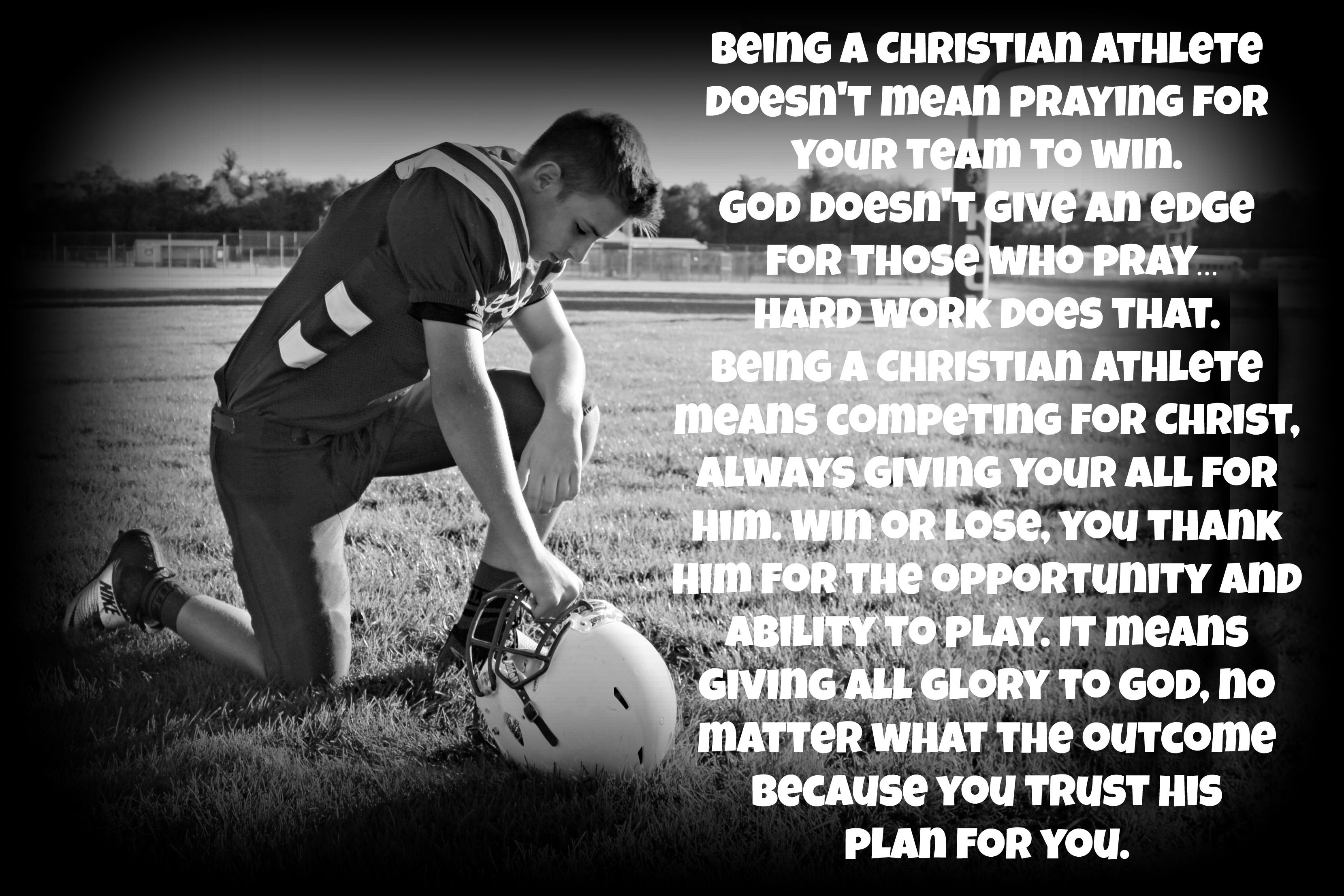 Being a Christian athlete doesn't mean praying for your
